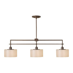 Murray Feiss - 3 Bulb Corinthian Bronze Chandelier - - UL Approved.