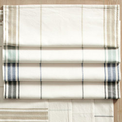 Ballard Designs - Set of 4 French Market Placemats - Made of 100% cotton. Monogram will be placed in the bottom center of one end of the table runner. Monogram will be placed in the top center of each placemat. Monogram will be placed in one corner of each napkin. Machine wash. With their crisp, clean stripes, our French Market Table Linen Collection brings casual charm to a dining room, breakfast nook or kitchen or take them along with you on your next picnic. Mix and match with other colors and linens in the collection. Monogram available. . . . . . Placemats are lined. able.