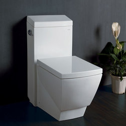 "Fresca - Fresca Apus Elongated Toilet - The Apus elongated, one-piece toilet from FRESCA  features an elegant, sophisticated design, that is both comfortable look at and to sit on. The Apus toilet features an advanced flushing system that features 2""+ big trap way and super powerful jet siphon. It has a stain resistant polish making it super easy to keep clean and its 1.6 gallons per flush meets the federal standard so you won't be wasting any water. With this toilet we automatically include a soft closing/non-slamming seat upgrade at no extra cost to you."