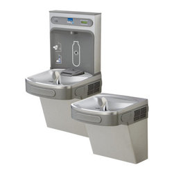 "Elkay - Elkay LZSTL8WSLK Light Granite EZH2O EZH2O Bi-Level Drinking Fountain - Elkay EZH2O Bi-Level Drinking Fountain with Water Bottle Filling StationElkay is sure to have a water cooler or drinking fountain that will meet or exceed your specifications.Product Features:Complete filtered cooler and bottle filling stationNo-touch sensor activationWaterSentry filter includedFlexi-Guard StreamSaver BubblerLaminar flow provides minimal splashADA compliantNo lead designProduct Specifications:Base Flow Rated: 8.0Full Load Amps: 6Shipping Weight: 87 lbsFountain Type: CoolerInstallation Type: WallHands Free Operation: YesVoltage: 115V/60HzHeight: 18-13/16""Width: 17-7/8""Depth: 3-9/16""Foot Pedal: NoGlass Filler: YesFilter: Yes"