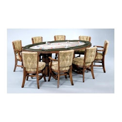 Mikhail Darafeev - Texas Holdem Table w Padded Rail in Maple w D - Table includes Base and Top. Chairs not included. For Texas Hold'em games. Finish/Construction Material: PC Maple. Made in USA. Some assembly required. Base: 31 in. H (215 lbs.). Top: 31 in. H (110 lbs.)