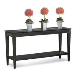 Bassett Mirror Company - Bassett Mirror T1216-400 Mocchiato Console Table - Traditional Rectangular Console Table in Dark Cappuccino Finish w/ Prism Glass Inset belongs to Mocchiato Collection by Bassett Mirror Company Bassett Mirror is fluent in this art, showing a terrific contemporary furniture that will satisfy on the one hand fans of home coziness, and on the other hand - seekers of non-standard design solutions also. One of the many strengths of the Bassett Mirror is using high quality materials for perfect embodiment of brilliant design ideas. Console Table (1)