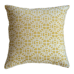 KH Window Fashions, Inc. - Gold Modern Geometric Decorative Pillow - This modern geometric pillow will compliment any decor.