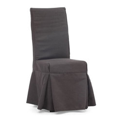 Zuo Modern - Zuo Dog Patch Chair in Charcoal Gray [Set of 2] - Dog Patch Chair in Charcoal Gray by Zuo Modern Simple and relaxed in design, the Dog Patch chair is a perennial dining room favorite. The slipcover has 4 ties in the back for added flare. The frame is solid wood, molded foam seats, and a beige or charcoal linen fabric cover. Chair (2)