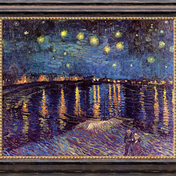 Amanti Art - Starlight Over the Rhone  by Vincent van Gogh - Van Gogh's love of the French Provence led to this stirring nightscape of the Rhone River, one of the most recognized works from his prolific Arles period.