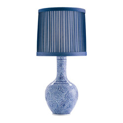 Batik Blue & White Porcelain Lamp