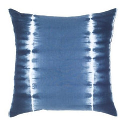 Rizzy Home Tie-Dye Blue Decorative Throw Pillow - Denim blue and white tie-dye make the Rizzy Home Kaleidoscope Blue Decorative Throw Pillow perfect for his bedroom. This plush throw pillow has a soft, 100% cotton cover that is machine-washable. It features a hidden zipper and plump, removable insert.About Rizzy HomeRizwan Ansari and his brother Shamsu come from a family of rug artisans in India. Their design, color, and production skills have been passed from generation to generation. Known for meticulously crafted, handmade wool rugs and quality textiles, the Ansari family has built a flourishing home-fashion business from state-of-the-art facilities in India. In 2007, they established a rug-and-textiles distribution center in Calhoun, Georgia. With more than 100,000 square feet of warehouse space, the U.S. facility allows the company to further build on its reputation for excellence, artistry, and innovation. Their products include a wide selection of handmade and machine-made rugs, as well as designer bed linens, duvet sets, quilts, decorative pillows, table linens, and more. The family business prides itself on outstanding customer service, a variety of price points, and an array of designs and weaving techniques.