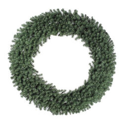 "Vickerman - Douglas Fir 72"" Wreath - Features: -Wreath. -Douglas Fir collection. -3 Rings 3 section. -1100 Tips. -Manufacturer provides 1 year seasonal warranty."