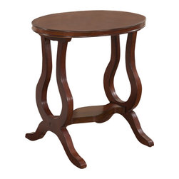 All Things Cedar - Oval Tea Table - Classic Accents: A truly inviting selection of Classic Accent Furniture FEATURING Console Sofa Tables Wooden Wine Magazine Racks, Nesting Tables, and Glass Cherry Curio Cabinates. Item is made to order.