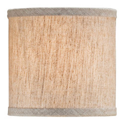 """Lamps Plus - Country - Cottage Natural Linen Drum Lamp Shade 5x5x5 (Clip-On) - A charm-filled shade to dress up a small fixture or lamp this design features a streamlined drum shape with a clip on fitter. The shade is covered in natural linen for a look that is both classic and casual. Recommended for use with 25 watt candelabra bulbs. Drum shade. Natural linen. Unlined. Clip-on fitter. Recommended for use with 25 watt candelabra bulbs. 5"""" across the top. 5"""" across the bottom. 5"""" high.  Drum shade.  Natural linen.  Unlined.  Clip-on fitter.  Recommended for use with 25 watt candelabra bulbs.  5"""" across the top.  5"""" across the bottom.  5"""" high."""