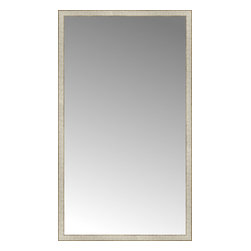 """Posters 2 Prints, LLC - 43"""" x 74"""" Libretto Antique Silver Custom Framed Mirror - 43"""" x 74"""" Custom Framed Mirror made by Posters 2 Prints. Standard glass with unrivaled selection of crafted mirror frames.  Protected with category II safety backing to keep glass fragments together should the mirror be accidentally broken.  Safe arrival guaranteed.  Made in the United States of America"""