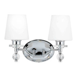Quoizel Lighting - Quoizel HS8602C Hollister Polished Chrome 2 Light Vanity - 2, 100W A19 Medium
