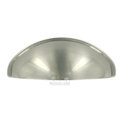 """Home Adorned - 2 1/2"""" Centers Contemporary Cup Pull in Satin Nickel -"""
