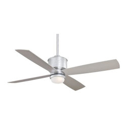 Minka Aire - Minka Aire Strata Ceiling Fan in Galvanized - Minka Aire Strata Model MF-F734-GL in Galvanized with Silver Colored Finished Blades.