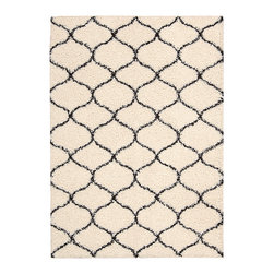 Nourison - Ivory Lattice Windsor Rug - Add chic sophistication to your space with this plush, durable area rug. With pleasant contrasts and an interesting pattern, it makes a lovely accent for a range of décor.   0.5'' thick 100% polypropylene Professionally clean Imported