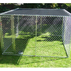 Jewett-Cameron Companies - Weatherguard™ Universal 10'W x 10'L Sunshade Cover Plus - The Lucky Dog™ Shade Cover Plus, provides your pet with comfort, shade and protection from the sun. Fits all kennel dimensions of 10'x10 and 5'x10'.