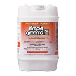 simple green - Simple Green Pro 3 Germicidal Cleaner, 5 Gallon Pail - Hospital-grade germicidal, virucidal, fungicidal and deodorizing cleaner. Effective against HIV-1 (AIDS virus), pseudomonas, staphylococcus, streptococcus, E. coli, athlete's foot fungus, MRSA, Influenza A and many gram-positive and gram-negative bacteria. Dilutes 1:21 for heavy cleaning and 1:64 for one-step cleaning and disinfecting.