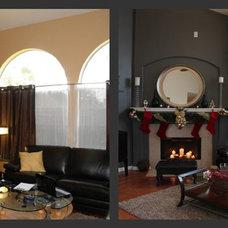 Modern Family Room by Chirigos Designs