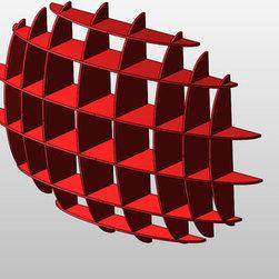 Plywood bookshelf Ellipse - CNC cutting project