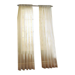 Sheer Ivory Curtain Panels (Set of 2)