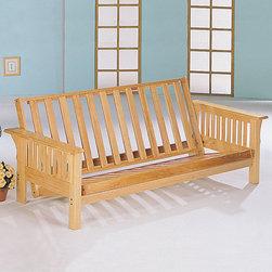 Coaster - Natural Transitional Futon Frame - Natural finish trimline futon frame.