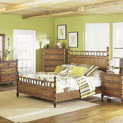 Bedroom | Smart Furniture - Your bedroom can be a tropical retreat with the help of Palm Bay Poster Bed.