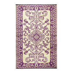 KOKO - Classic Floor Mat, Violet, 4' x 6' - This beautiful floor mat would look great inside or out. Place it in your kitchen or back patio for a stylish impact. And the easy-to-clean polyurethane makes it perfect for entertaining year-round.