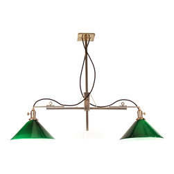 Brass Century - Adjustable Brass Billiard Light  - Drop height and width can be adjusted!