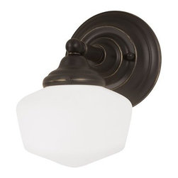 Sea Gull Lighting - Sea Gull Lighting 44436BLE Academy 1 Light Energy Star Bathroom Sconce - Features: