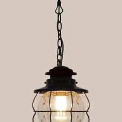 Antique Iron Art and Blown Glass Pendant Lighting in Brown Finish - http://www.phxlightingshop.com/index.php?main_page=advanced_search_result&search_in_description=1&keyword=9936