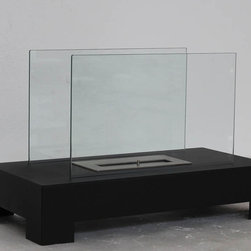"Mercer - Modern Ventless Free Standing Ethanol Fireplace - "" MERCER ""  Modern Free Standing Ventless Ethanol Fireplace"