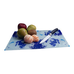 Jan Laurent - Blue Regal Glass Platter - Material: