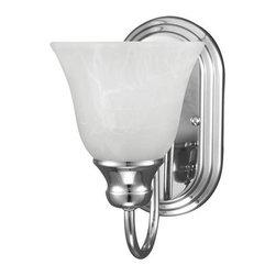 Sea Gull Lighting - Sea Gull Lighting 41939BLE Windgate 1 Light Energy Star Bathroom Sconce - Features: