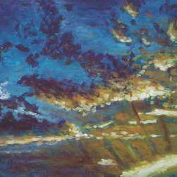 """Sunset Over Henderson"" (Original) By Neil Kesterson - I Love Light, Especially The Morning And Evening Sky. I Am Continually Amazed At The Spectrum Of Light And Color As It Plays Among Cloud Filled Skies. On This Particular Evening The Intense Glow Of The Sun Pushing Its Way Through The Clouds Contrasting With The Dark Night Sky Creeping In Was Spectacular. I Hope That I Was Able To Capture Some Of That Fleeting Inspiring Moment In Time."