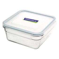 Glasslock Oven Safe Square 6.0 cup - Oven-safe and microwavable