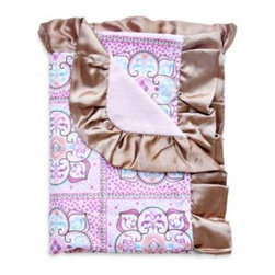 Caden Lane - Caden Lane Moroccan Modern Vintage Blanket - This Caden Lane blanket makes a perfect gift for a new little baby. Snuggle your little one in style with this over-sized blanket with satin ruffle trim and a modern vintage design.