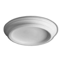 """Inviting Home - Chicago Surface Mount Ceiling Dome - Chicago surface mount ceiling dome ceiling dome dimensions: outside diameter - 35-3/16"""" inside diameter - 24-13/16"""" overall depth - 4-15/16"""" interior depth - 3-7/8"""" Chicago surface mount ceiling dome has a simple clean line design. Like all of our ceiling domes the Chicago ceiling dome is light weight and very easy to install. This ceiling dome comes factory primed and is suitable for painting glazing or faux finish. This ceiling dome is a single piece constructed ceiling dome. Ceiling dome can be used with lighting fixture or without. If you decided to use the ceiling dome with lighting fixture you can easily drill or cut center hole with a pen-knife to any dimension."""