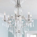 """La Fontaine"" Chandelier  - A chandelier that will steal the show in whatever room it graces, the ""La Fontaine"" Chandelier Crystal is covered in beautiful pendalogues and bobeches."