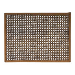 "Juliska - Juliska Rectangular Caning Mat Espresso - Juliska Rectangular Caning Mat EspressoAdd dimension to your table settings with textural elements like natural cane placemat. Trimmed with white twill, this 14x19'' mat is simultaneously sophisticated, tailored, and exotic. Simply wipe with a damp sponge for easy clean up after blissfully messy meals. Dimensions: 14"" L x 19"" W"