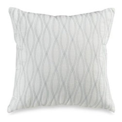Harbor House - Harbor House Coastline 18-Inch Square Toss Pillow - The modern embroidered design of this toss pillow complements the serene beauty of the Coastline comforter set.