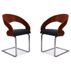 Modern Dining Chairs Rosie Black-Walnut Lounge Chair Set