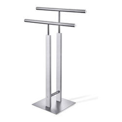 "ZACK - Atacio Towel Stand - Features: -Designed in Germany. -High quality stainless steel. -Overall dimensions: 32.3"" H x 16.7"" W x 9.8"" D."