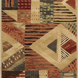 """Home Dynamix - Home Dynamix Rug, Gold, 7' 10"""" x10' 5"""" - The Catalina Collection by Home Dynamix."""