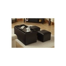 Contemporary Upholstered Benches Storage Bench and Ottomans