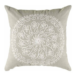 Rizzy Home - Khaki and White Decorative Accent Pillows (Set of 2) - T04070 - Set of 2 Pillows.