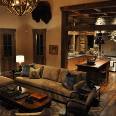 Rustic Family Room by Highline Partners, Ltd