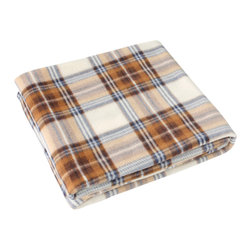 "Blancho Bedding - Blancho [Scotch Plaids - Brown/White] Soft Coral Fleece Throw Blanket 59""-74.8"" - The Coral Fleece Throw Blanket measures 59 by 74.8 inches. Whether you are adding the final touch to your bedroom or rec-room, these patterns will add a little whimsy to your decor. Machine wash and tumble dry for easy care. Will look and feel as good as new after multiple washings! This blanket adds a decorative touch to your decor at an exceptional value. Comfort, warmth and stylish designs. This throw blanket will make a fun additional to any room and are beautiful draped over a sofa, chair, bottom of your bed and handy to grab and snuggle up in when there is a chill in the air. They are the perfect gift for any occasion!"