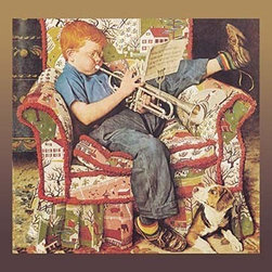 """Buyenlarge.com, Inc. - Trumpet Practice - Fine Art Giclee Print 24"""" x 36"""" - Another high quality vintage art reproduction by Buyenlarge. One of many rare and wonderful images brought forward in time. I hope they bring you pleasure each and every time you look at them."""