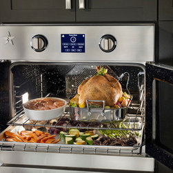 BlueStar's New Electric Wall Oven - Extra-large cooking cavity is perfect for roasting, baking and broiling for a crowd and can accommodate full-size commercial baking sheets.