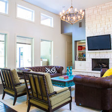 contemporary living room by Roost Custom Homes, LLC